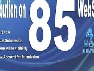 I will make manual video submission on top 85 video sharing