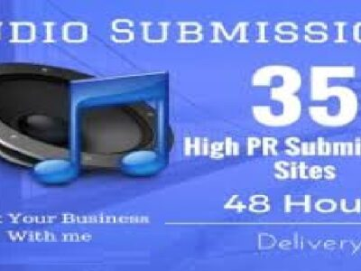 I will do audio submission to high traffic 35 audio sharing