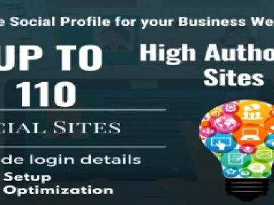 I will setup 110 social profile for your business website