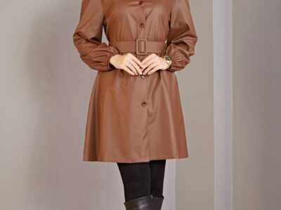 Belted Leather Tunic For Wholesale